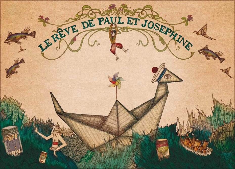 Spectacle Le Rêve de Paul et Joséphine - L'Affabuleuse Cie. Sortie Avignon 17